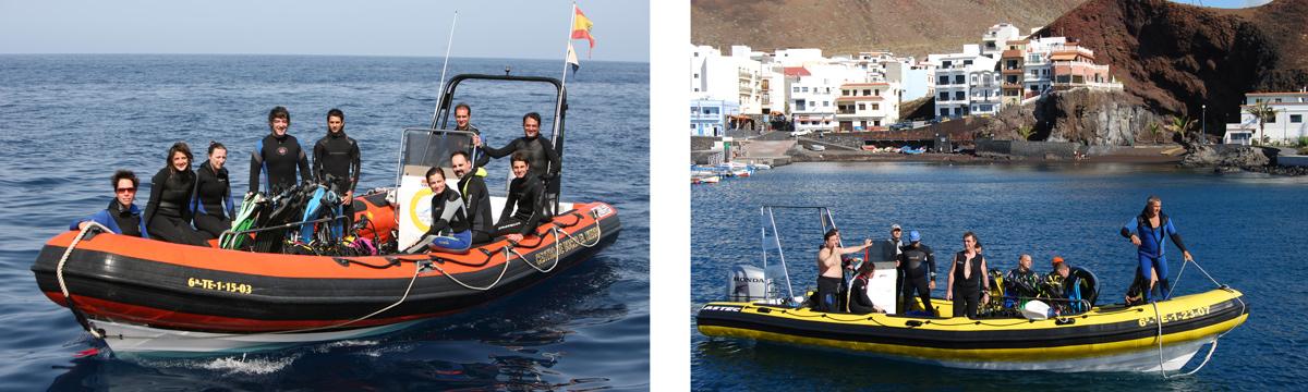 Barcos - Centro de Buceo El Hierro