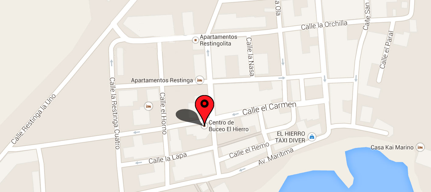 mapa centro del buceo El Hierro